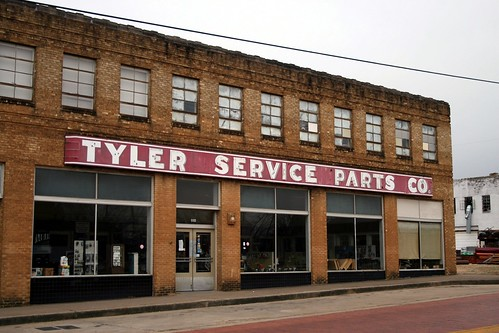 tyler service parts co. with neon