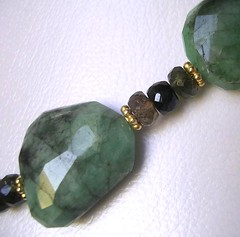 opaque emerald (matched with tourmaline)