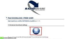 2 ดาวโหลดไฟล์จาก rapidshare.com