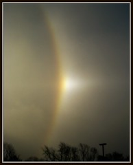 Sun Dog? Snow Rainbow? (photokat100) Tags: rainbow halo sundog picnik