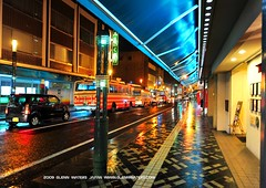 On a Rainy Night.  (Hirosaki Japan)   Glenn Waters 11,300 visits to this photo. Thank you. (Glenn Waters in Japan.) Tags: street bus car rain japan reflections lights nikon nightshot  hirosaki 77 japon   rainynight   d700 nikond700 dotemachi  glennwaters nikkor2470mmf28gedafs 51march25th 61march7th 37may13th