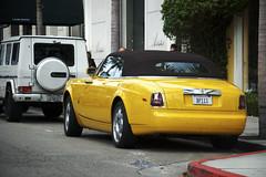 BP111 (j.hietter) Tags: tree car yellow mercedes drive convertible rollsroyce palm hills whole rodeo beverly rolls phantom coupe g55 royce g500 wholecar bijan drophead bp111
