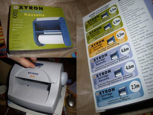 Xyron 510 sticker maker, changing the cartridge, part 1