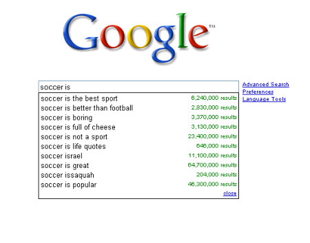 Soccer is