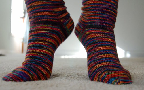 FO: rainbow socks