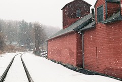 RR Siding and Snow (tim heffernan) Tags: snow buildings ma great architcture barrington railroadtracks rrsiding