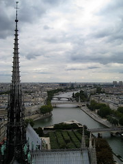 Notre Dame de Paris rooftop () Tags: above city bridge roof vacation holiday paris rooftop church wet pool seine architecture clouds river design cathedral basilica gothic overcast landmark notredame chiesa rtw gothique eglise notredamedeparis vacanze roundtheworld notredamecathedral atop gothicarchitecture globetrotter ourlady gothicchurch houseofworship gothicstyle pontdelarcheveche pontdelatournelle  worldtraveler ourladyofparis ptdelarcheveche ptdelatournelle
