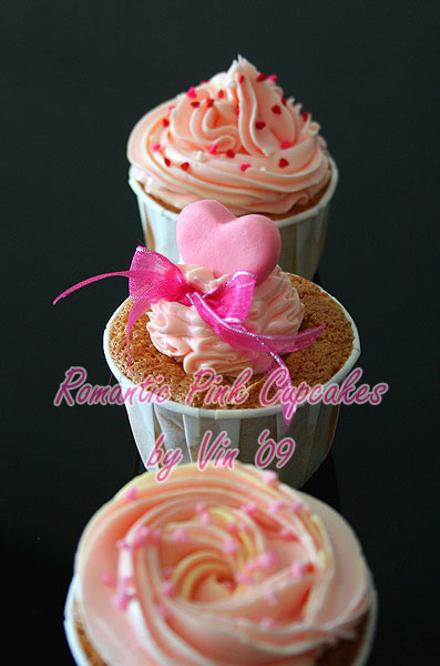 Romantic Pink Cupcakes
