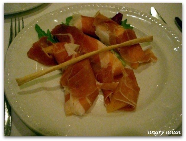 melon wrapped with proscuitto