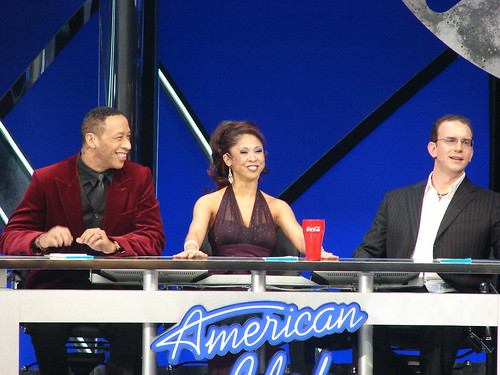 Idol judges. Photo by Mark Goldhaber.