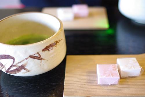 お抹茶&お菓子