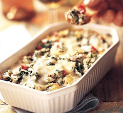 Baked Spinach Artichoke Dip (Betty Crocker Recipes) Tags: food recipe dip spinach artichokes bettycrocker meltedcheese artichokedip redbellpepper bettycrockerrecipe spinachartichoke bakedspinachartichokedip