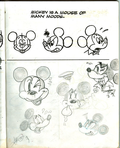 "Golden Books -  ""HOW TO DRAW : Walt Disney's Mickey Mouse and FRIENDS"" (( 1983 )) { tOkKid :: 1993 }"