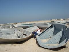 DSC03437 (ekbatan_guy) Tags: sea beach boats nice sand iran location seafood persiangulf qeshm nicelocation