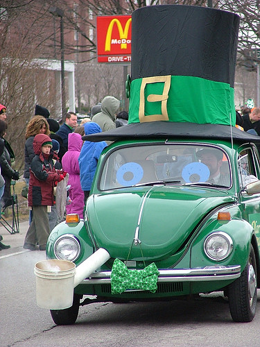 St Patricks Day Car