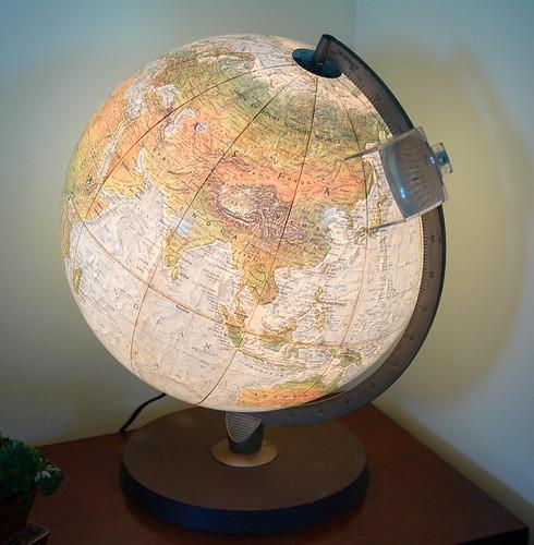 Vintage World Globe Lamp - a photo on Flickriver