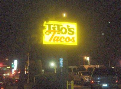 Tito's Tacos - Entrance Sign