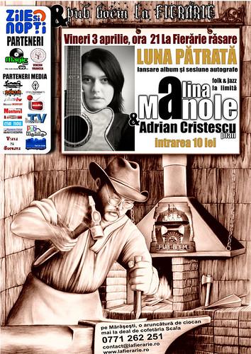 3 Aprilie 2009 » Lansare (2009) Alina MANOLE - Lună pătrată