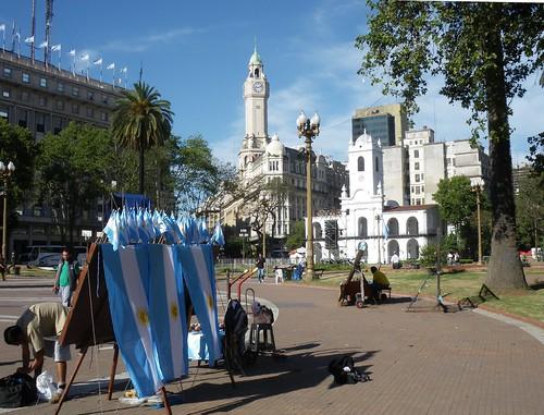 Plaza en Argentina