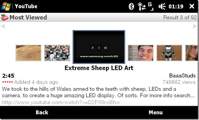 youtube2 with windows mobile