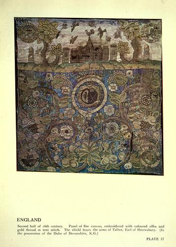 016-Lienxo bordado con hilo de oro y seda de colores-Inglaterra siglo XVI