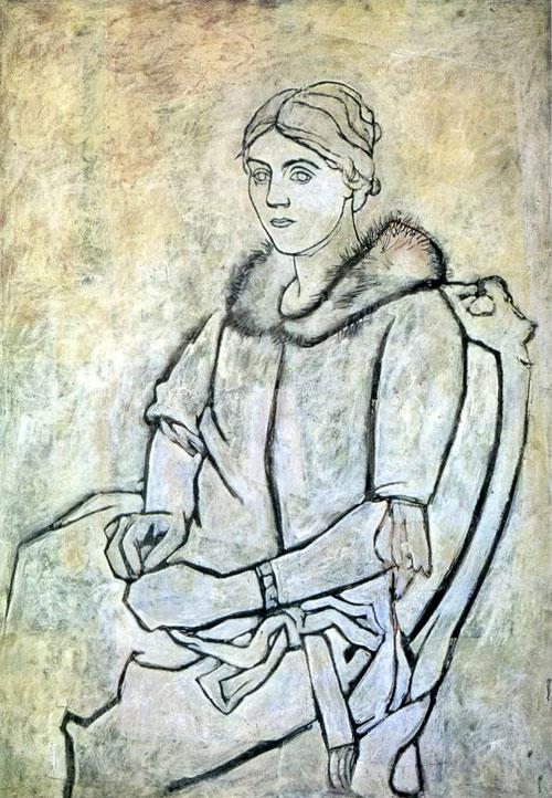 Olga au col de fourrure - Picasso 1923