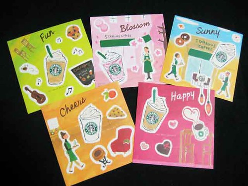 Cute stickers from Starbucks Japan