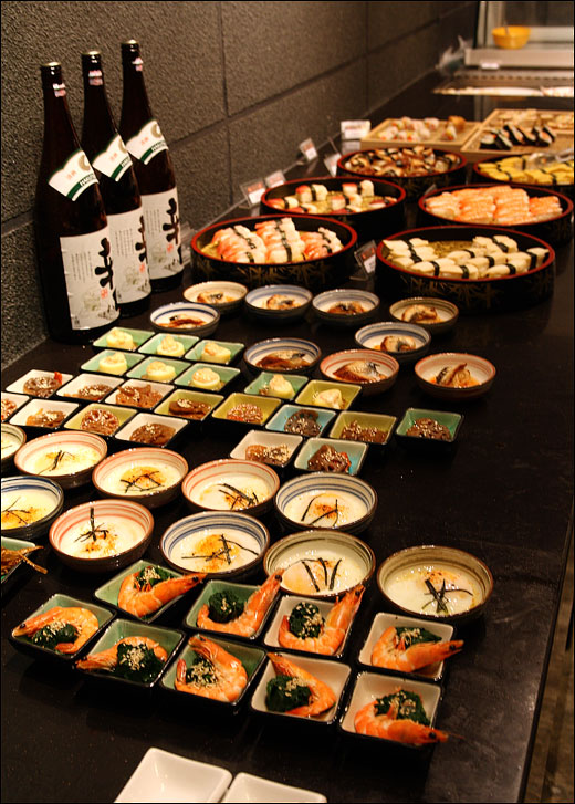 sushi seafood section