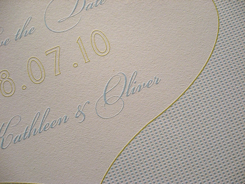 Tangiers Letterpress Save the Date - Closeup