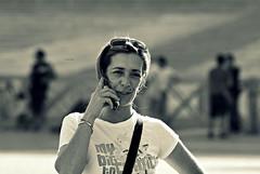 ( The Mark) Tags: bn mamma telefono