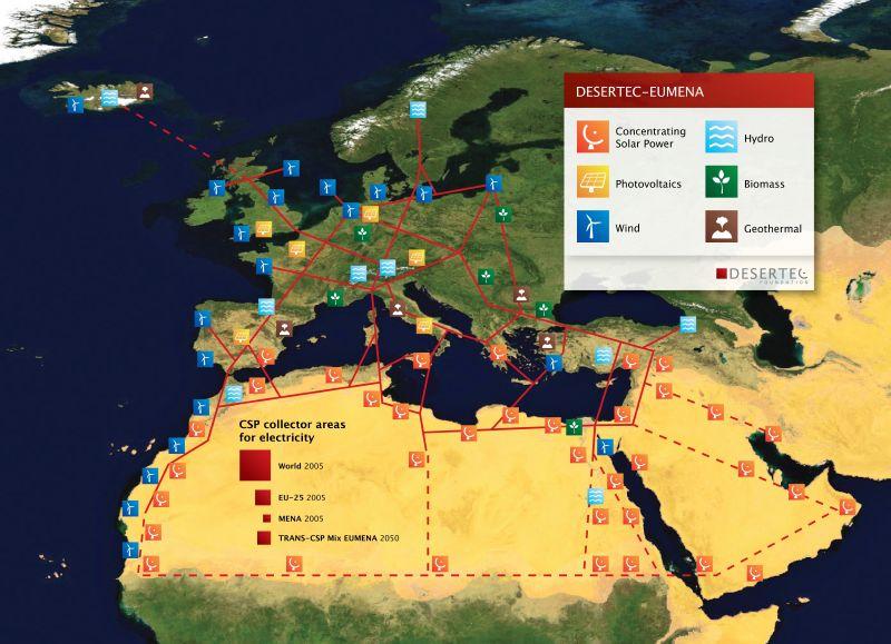 Proyecto Desertec en el desierto del Sáhara