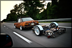 (Mike Burroughs) Tags: road nikon shot low rusty rusted bmw 17 interstate trailer smashed nikkor 18 rider import rs bbs 2009 wrecked rolling alliance slammed bimmer d300 5er e28 535i hoodride