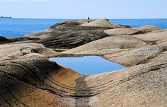 Coast (AstridWestvang) Tags: sea woman pool rock coast larvik svaberg brunlanes