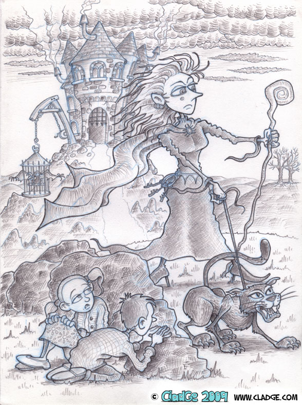Madam Wormcharm - pencilled