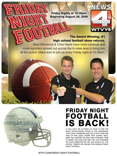 """Friday Night Football"" Full Page Ad v.1"