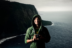 The island Punisher (Jeremy Snell) Tags: ocean cliff beach water field point island 50mm hawaii big dof valley northern depth waipio strobist