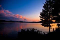 Adirondack Sunset (pa_cosgrove) Tags: sunset sky lake reflection nature water skyline landscape horizon adirondacks saranaclake uppersaranaclake canonef24105mmf4lisusm canoneos5dmarkii