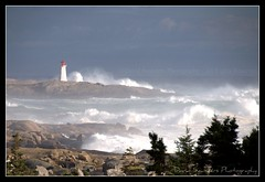Bill & Peggy: together at last! (Dave the Haligonian) Tags: ocean sea lighthouse canada storm fog coast waves novascotia hurricane atlantic shore maritime peggyscove surge copyrightallrightsreserved dsc2103 davidsaunders davethehaligonian hurricanebill billpeggytogetheratlast