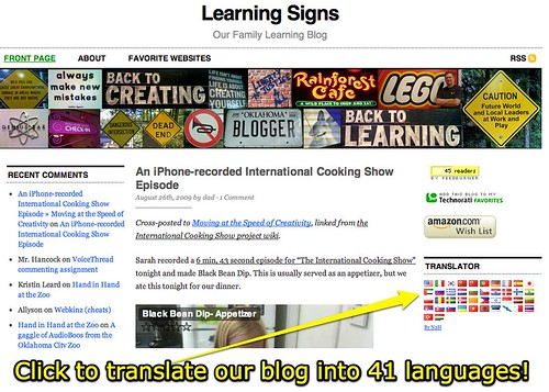 Click to translate our blog into 41 languages!