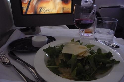 Virgin Upper Class -asparagus risotto