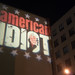 09245 American Idiot courtyard light projection and building across Addison Street by geekstinkbreath
