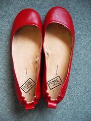 Matalan red flats