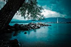 Blue Lagoon (Gabriel Asper) Tags: gabriel de switzerland photo suisse geneva geneve photos g jet genve deau genf asper paquis suiss gasper gabiche gabicheminimal
