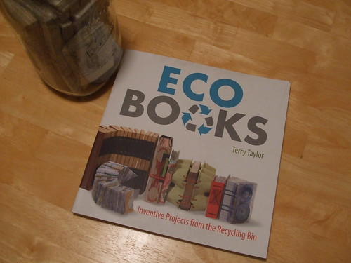 Eco Books Cover with the book jar