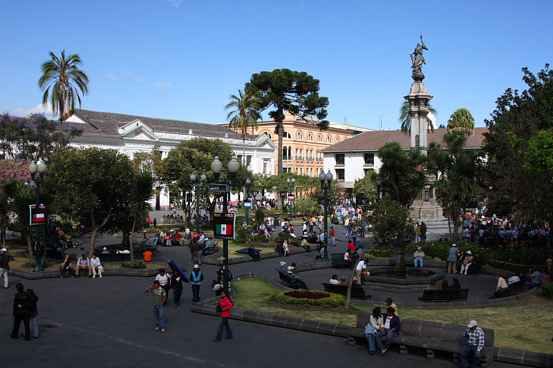 En el Centro Historico de Quito
