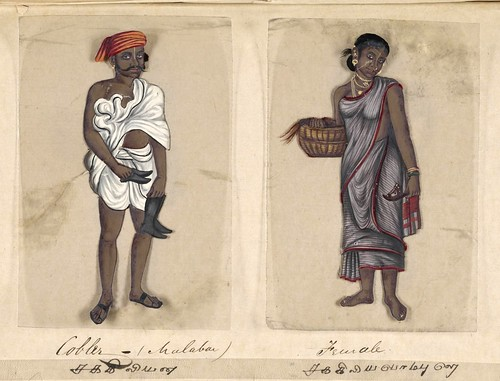 025- Zapatero Malabar y su mujer-Seventy two specimens of castes in India 1837