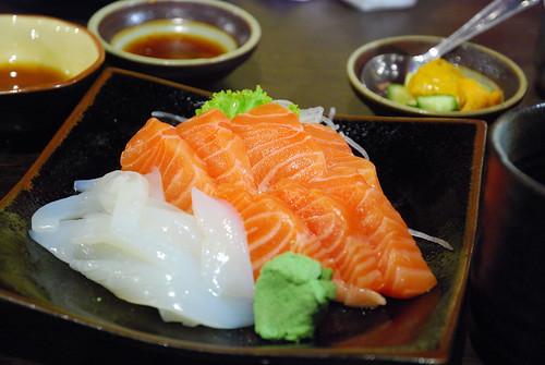 鮭魚 X 花枝