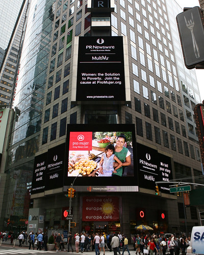 new york times square billboard. in Times Square, New York