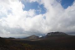 樽前山の溶岩ドームと西山