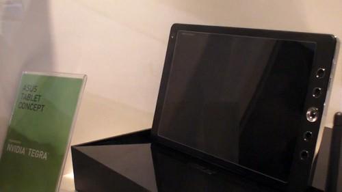 Prototype de l'Asus Eee Pad présenté sur le stand Nvidia Tegra 2 au CES 2010